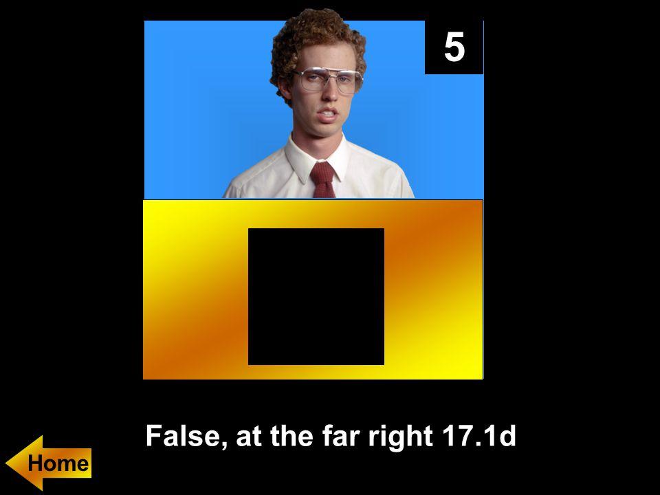 5 False, at the far right 17.1d