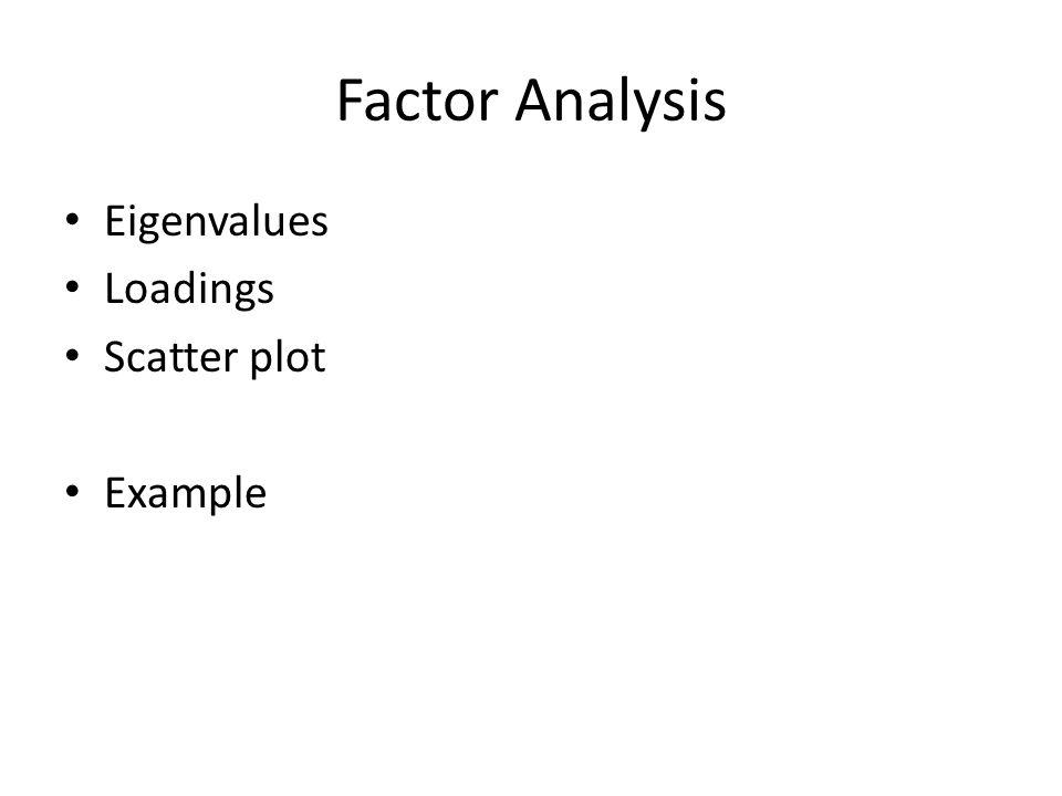 Correspondence analysis Row/Column Scores Scatter plot Example
