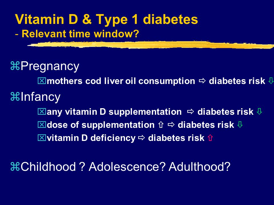 Vitamin D & Type 1 diabetes - Relevant time window.