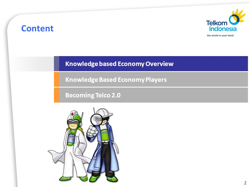 2 Content Knowledge based Economy Overview Knowledge Based Economy Players Becoming Telco 2.0