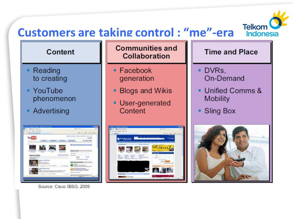 Customers are taking control : me -era