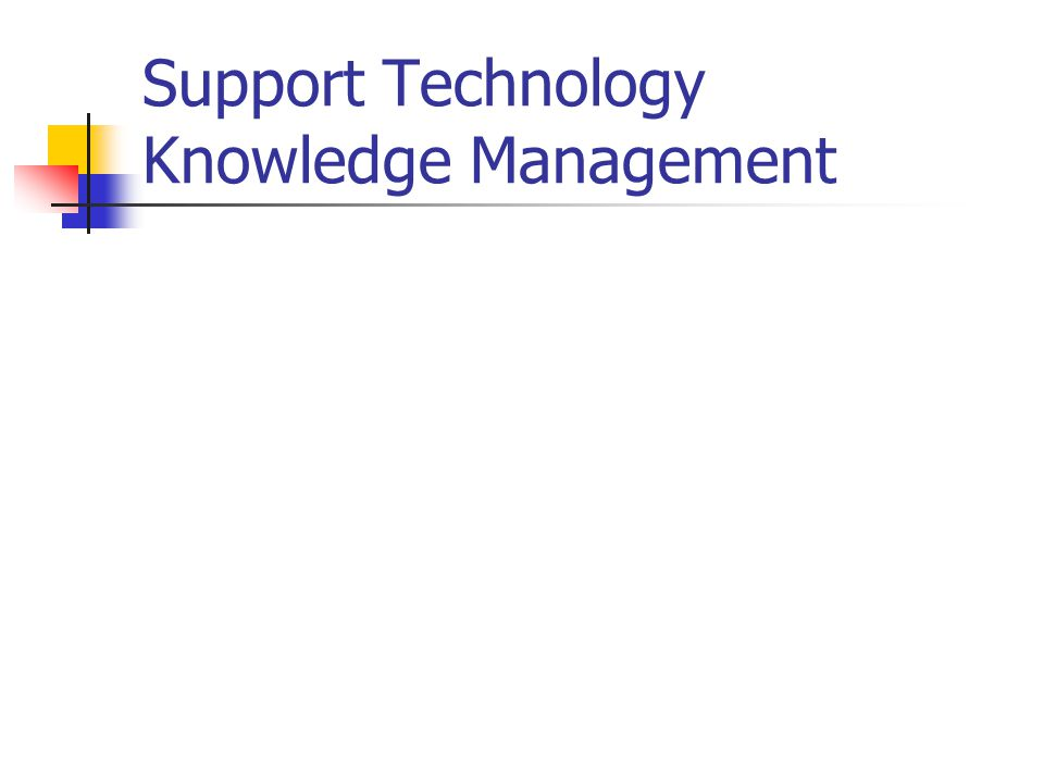 Support Technology Knowledge Management