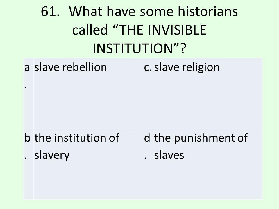 c.slave religion