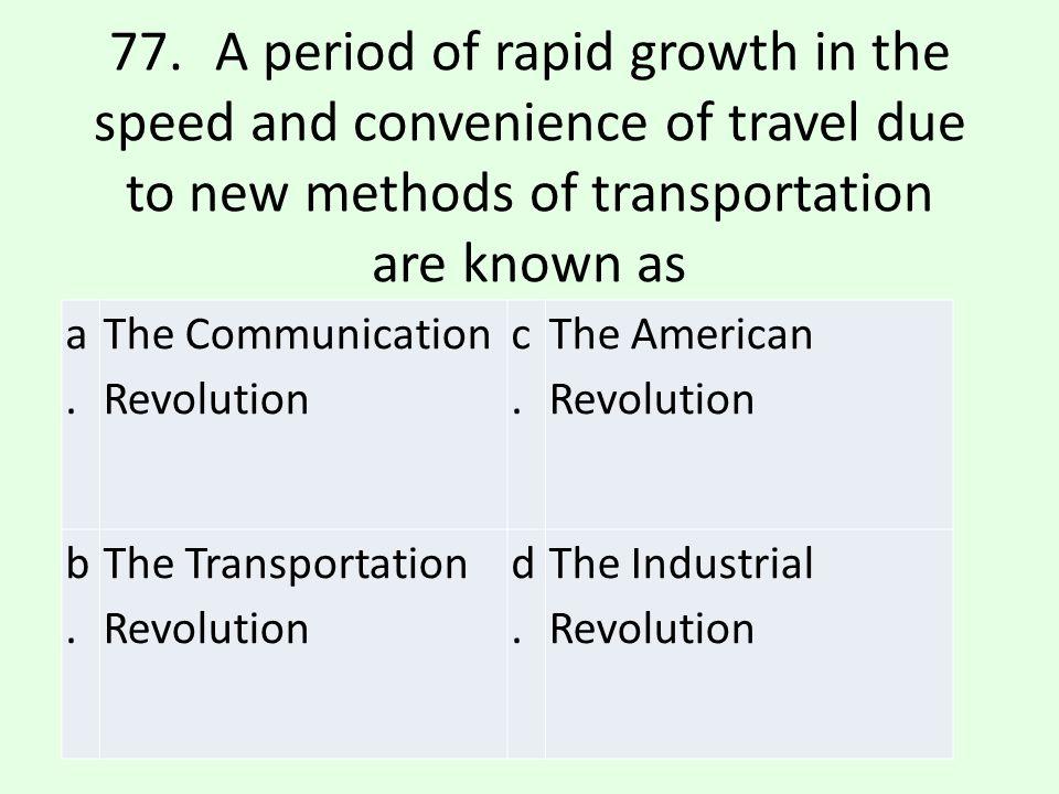 b.b. The Transportation Revolution