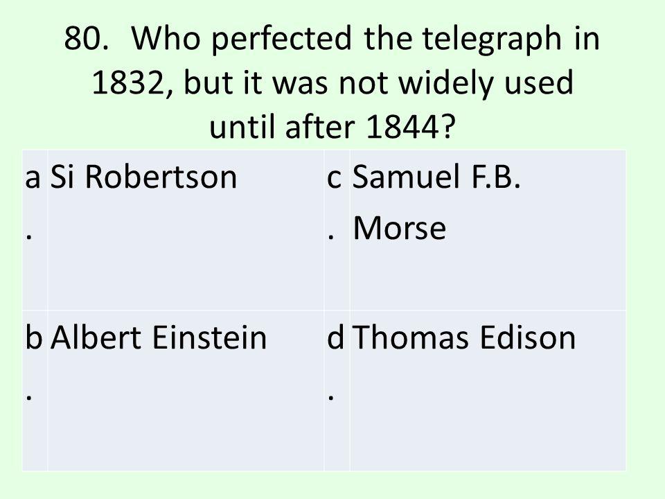 c.c. Samuel F.B. Morse