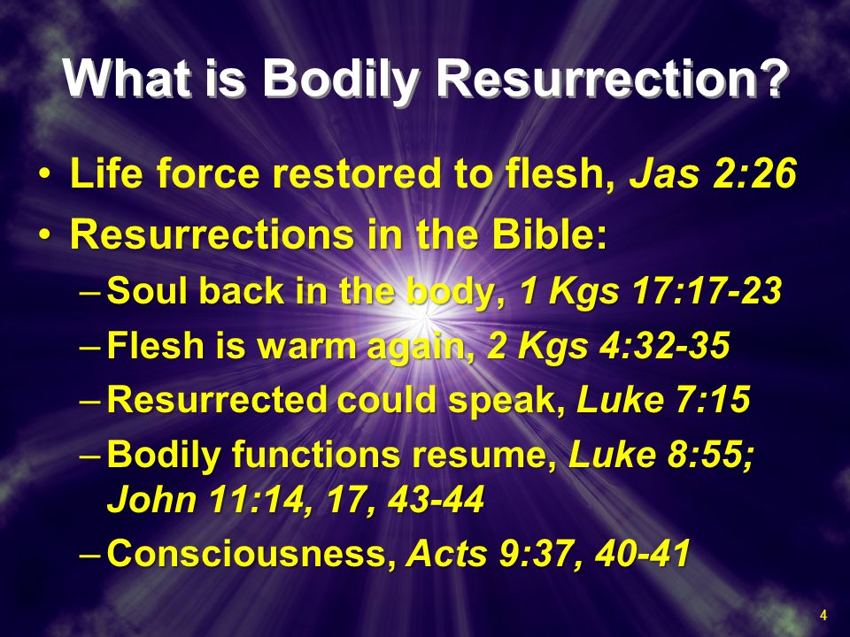 What is Bodily Resurrection.