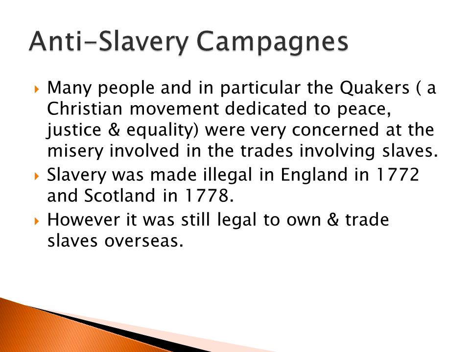 Many people and in particular the Quakers ( a Christian movement dedicated to peace, justice & equality) were very concerned at the misery involved