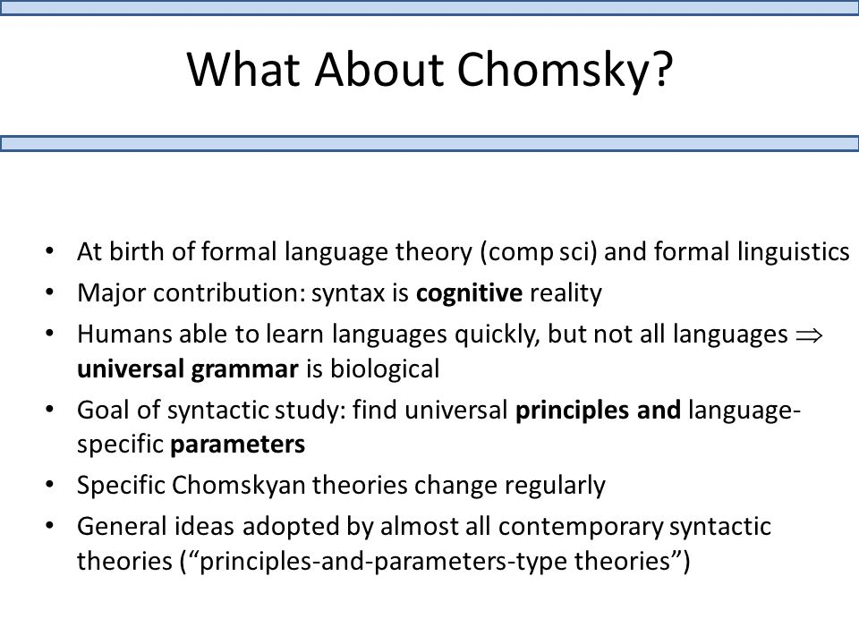 What About Chomsky.