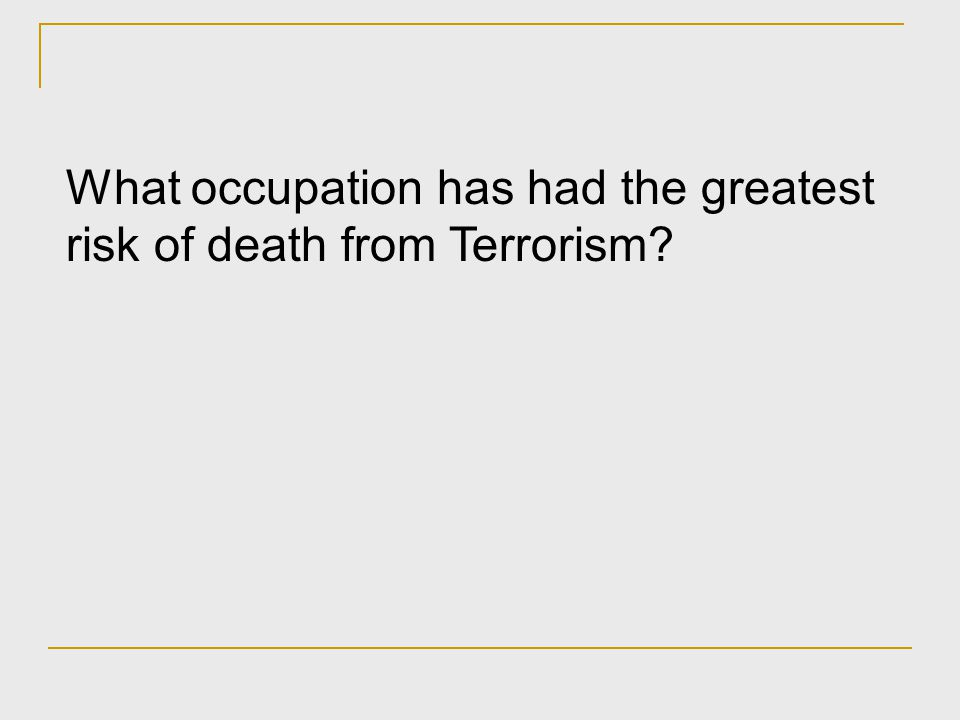 Why did terrorism draw considerable attention in 2001.
