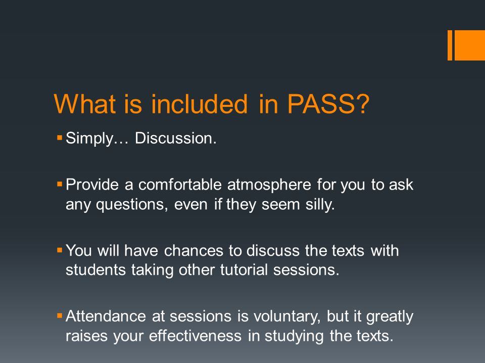What should I do before attending a PASS.