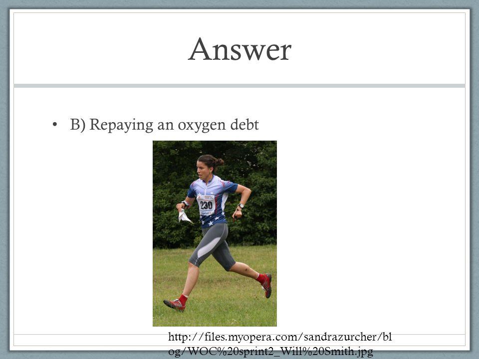 Answer B) Repaying an oxygen debt http://files.myopera.com/sandrazurcher/bl og/WOC%20sprint2_Will%20Smith.jpg
