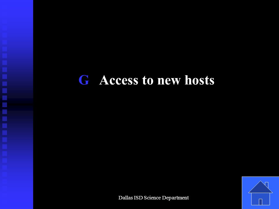 Dallas ISD Science Department G Access to new hosts