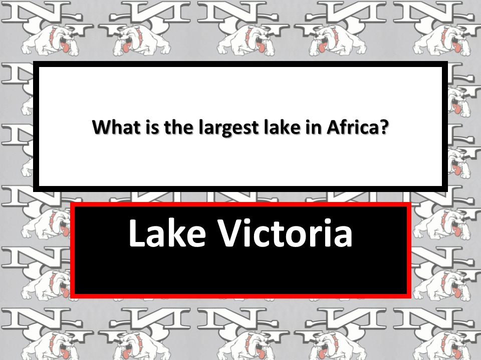 What is the largest lake in Africa? Lake Victoria