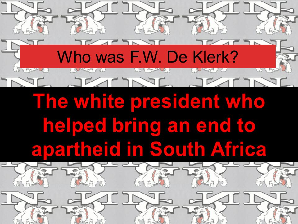 Who was F.W. De Klerk? The white president who helped bring an end to apartheid in South Africa