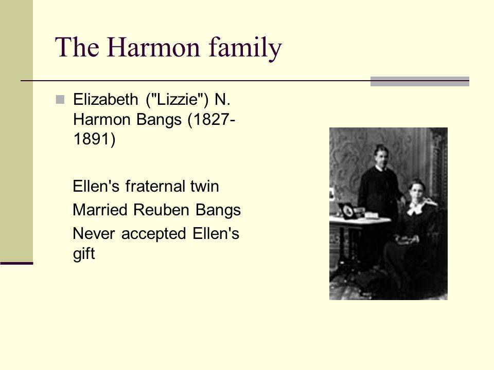 The Harmon family Elizabeth (