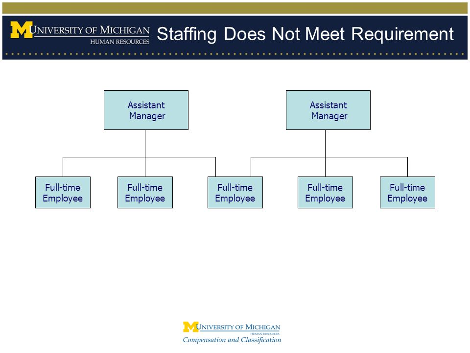 Staffing Does Not Meet Requirement Full-time Employee Full-time Employee Assistant Manager Assistant Manager Full-time Employee Full-time Employee Ful