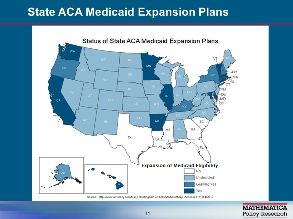 State ACA Medicaid Expansion Plans 11