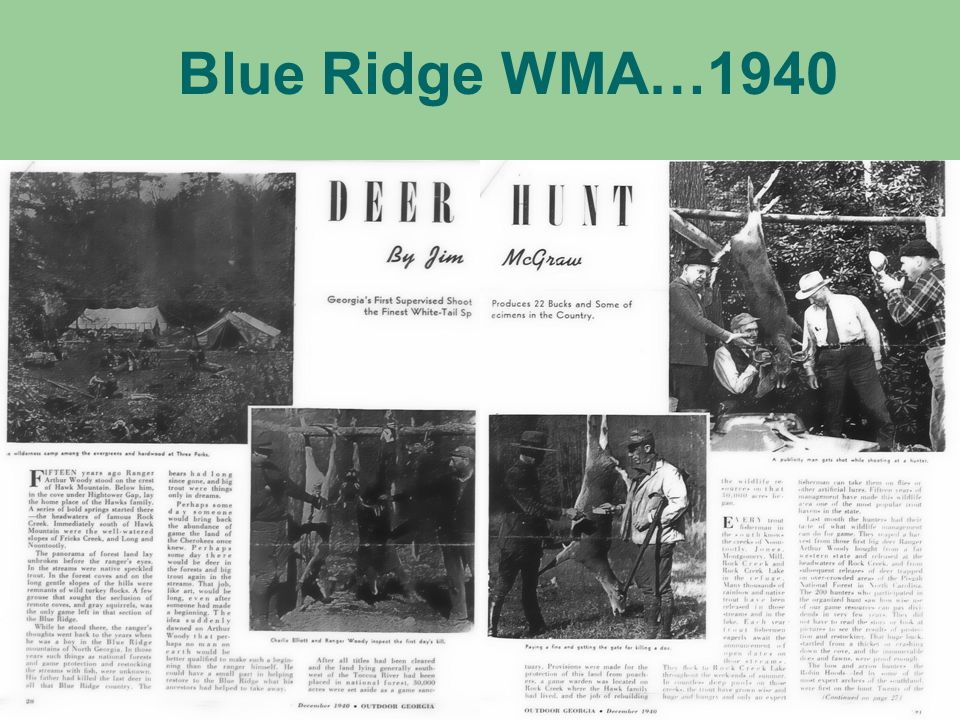 Blue Ridge WMA…1940