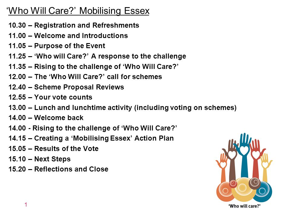 'Who Will Care?' Mobilising Essex What is the challenge.