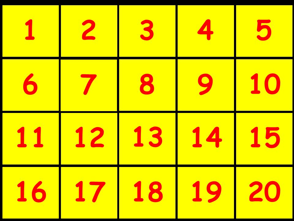 How to play… Divide the class into several teams. The game board consists of XXX numbered squares.