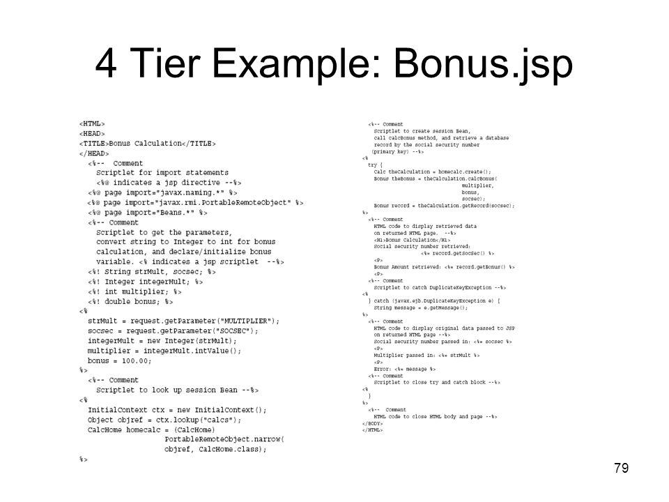 79 4 Tier Example: Bonus.jsp
