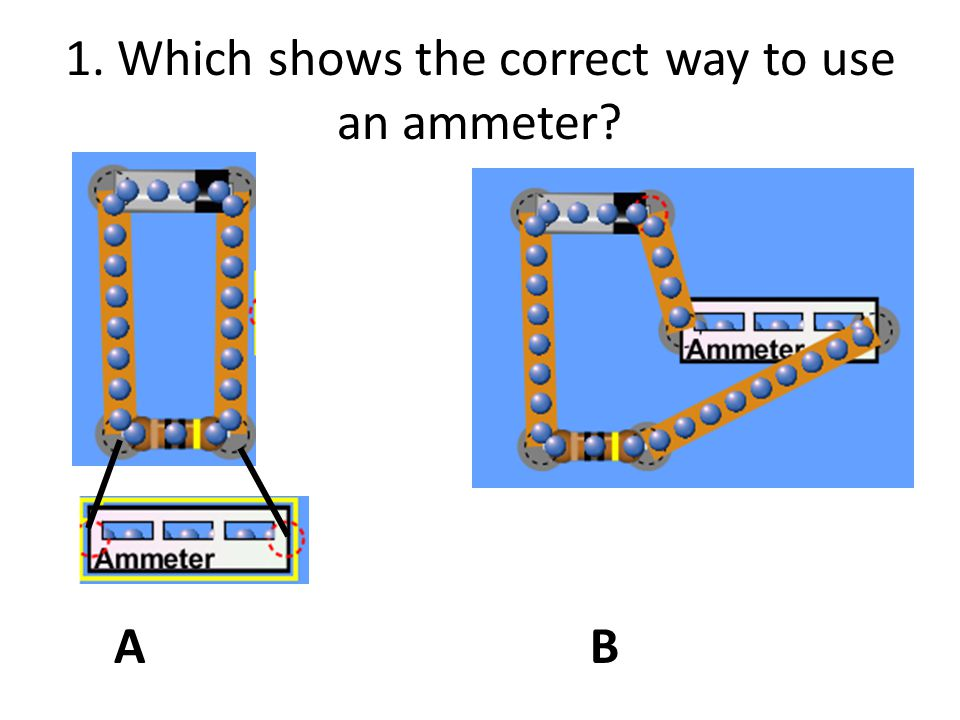 2. Which resistor will have the greatest current? A. 50  B.10  C.They have the same current