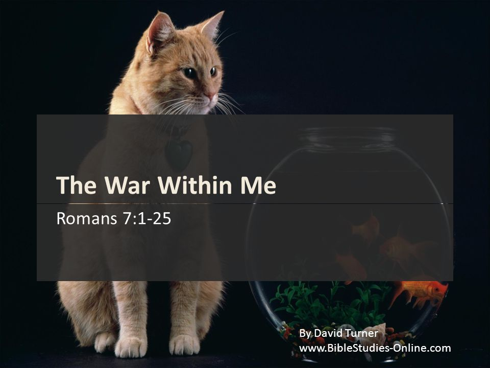 The War Within Me Romans 7:1-25 By David Turner