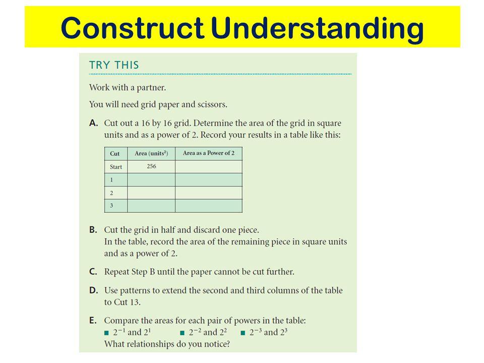 Construct Understanding