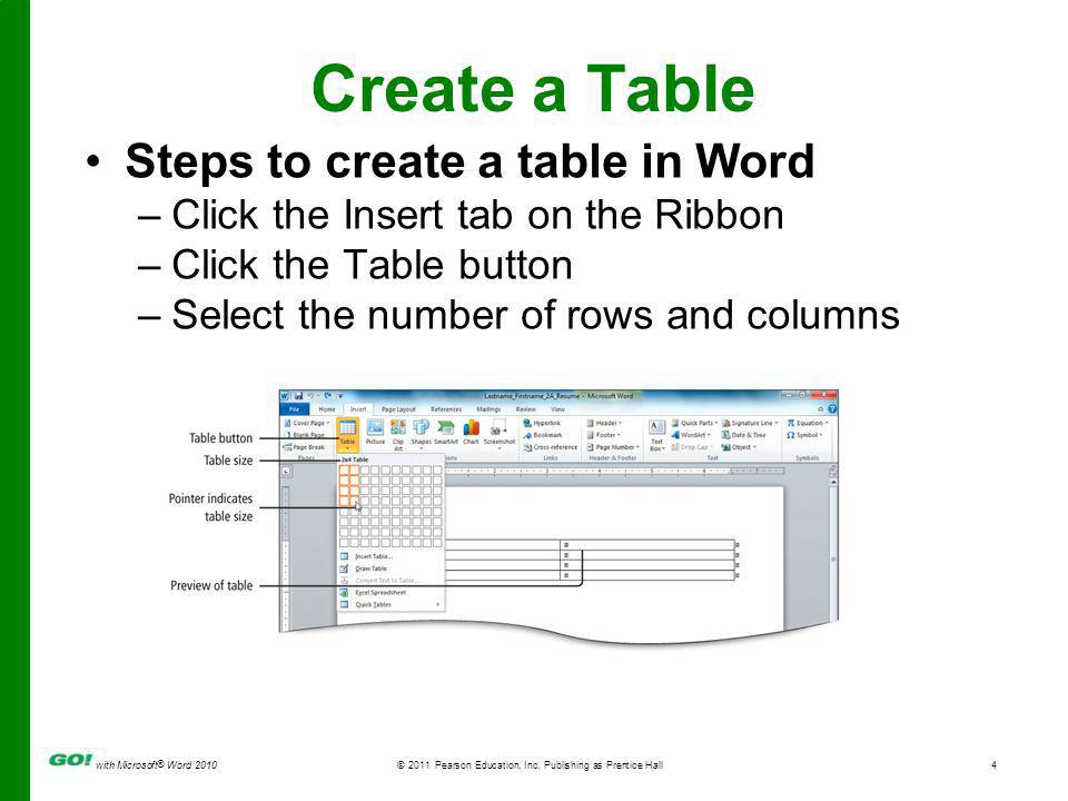 with Microsoft ® Word 2010© 2011 Pearson Education, Inc.