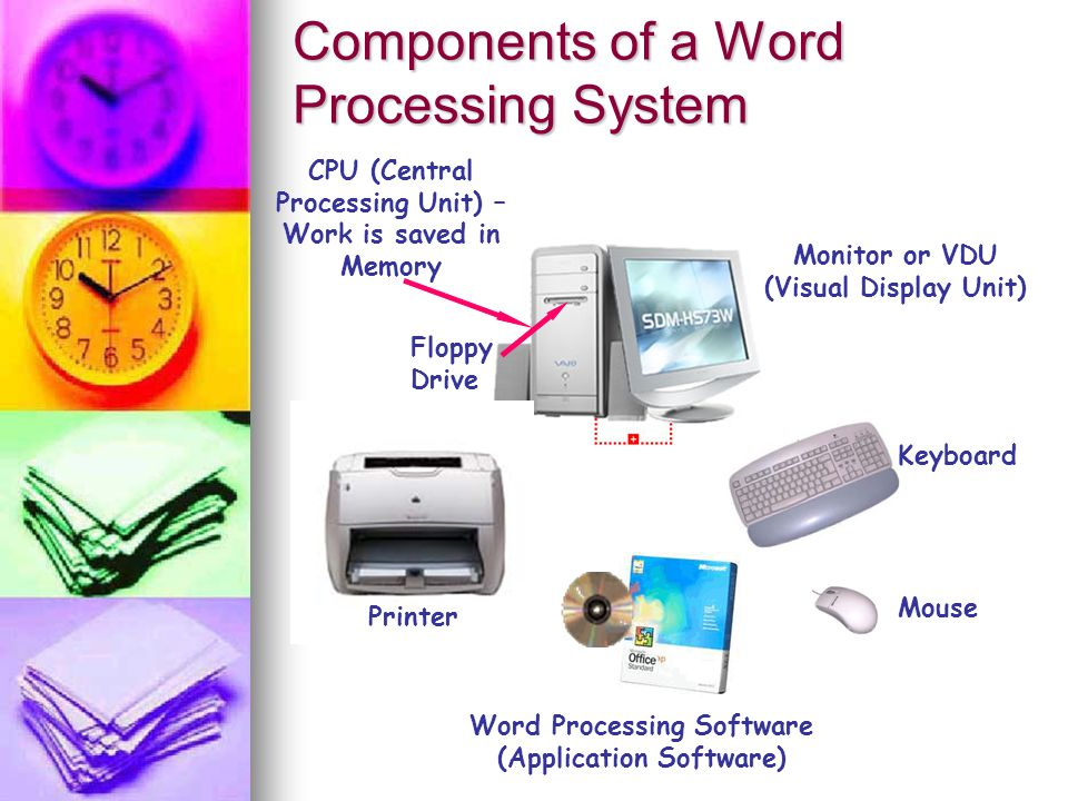 What is a Word Processing Package It is application software or a program which allows you to:- E Enter dit a and Format text.
