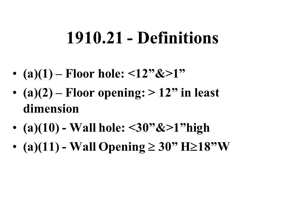 1910.24 (Continued) (f) Stair Treads  Slip resistant  Nosings of nonslip finish (g) Stairway platforms  No less than width of stairway  Minimum of 30 L