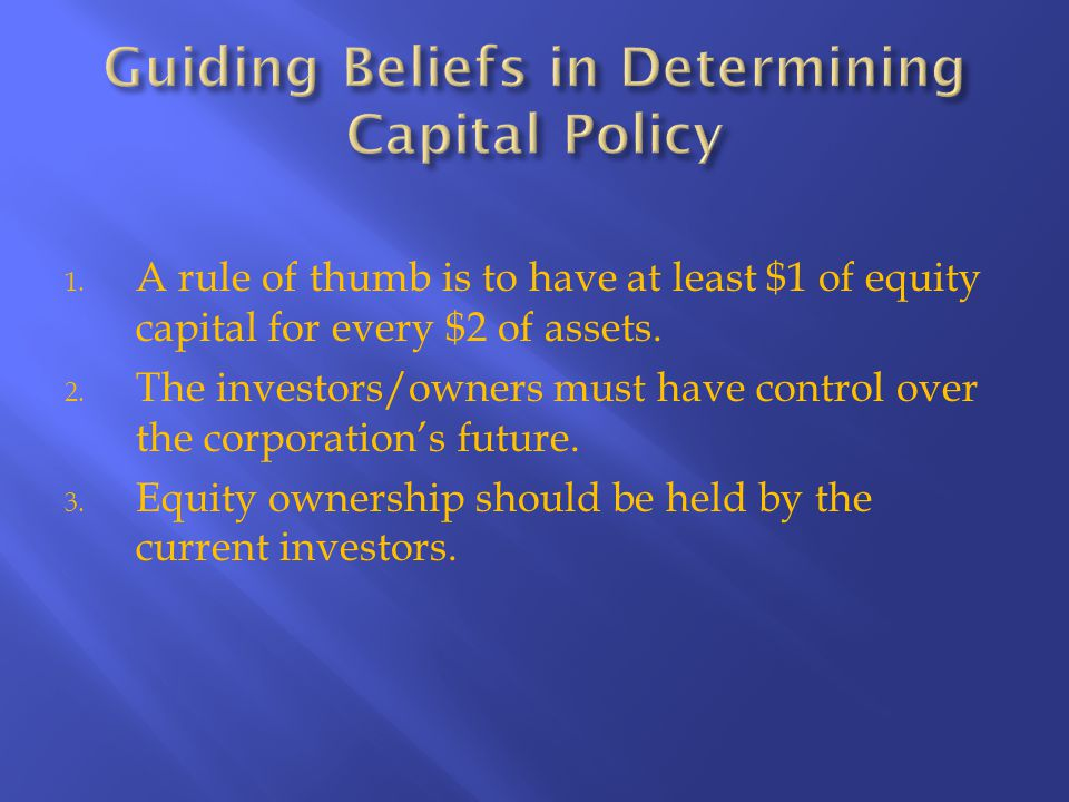 DEBT CAPITAL EQUITY CAPITAL