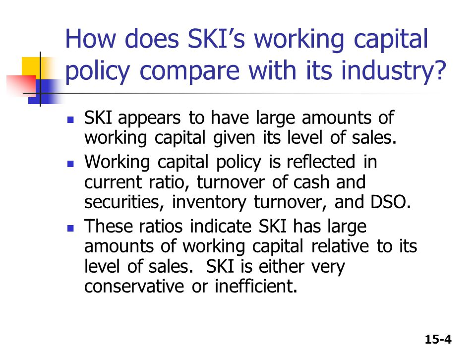 15-25 If SKI succeeds in reducing DSO without adversely affecting sales, what effect would this have on its cash position.