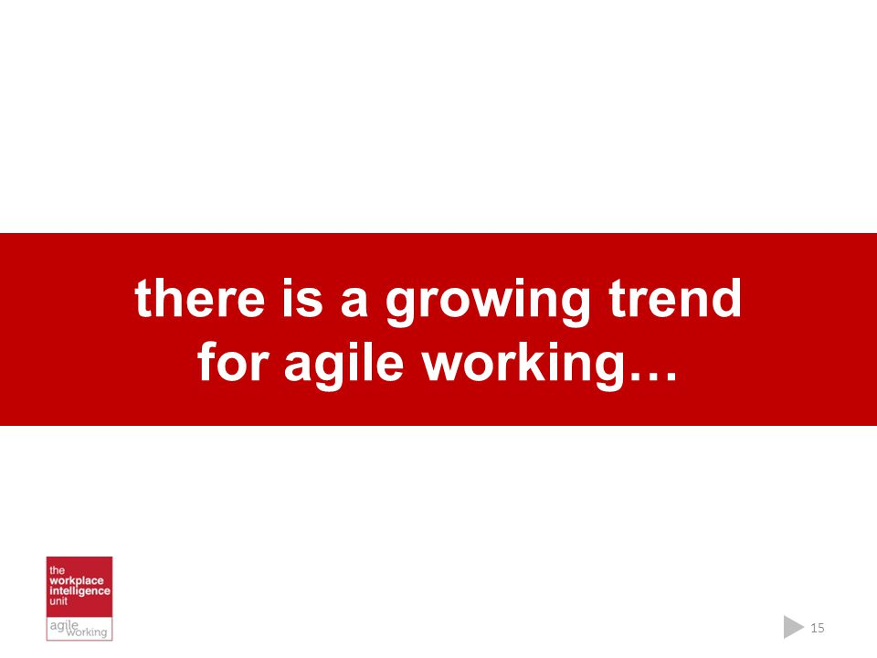 there is a growing trend for agile working… 15