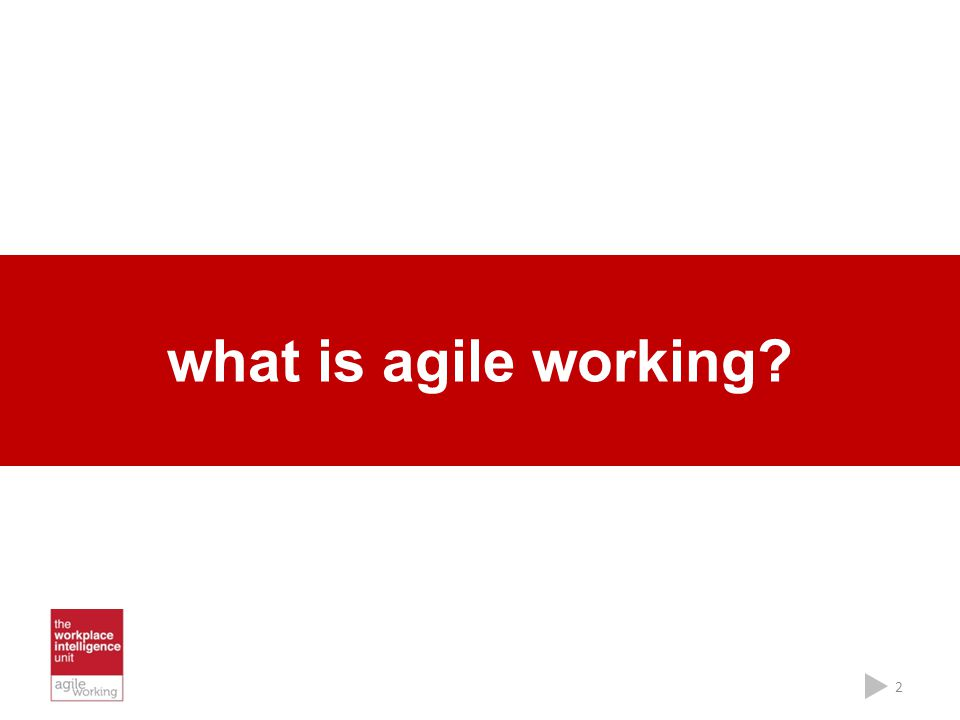 what is agile working? 2