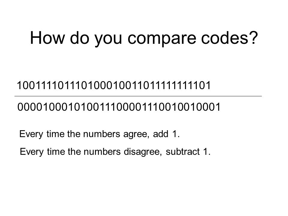 How do you compare codes.