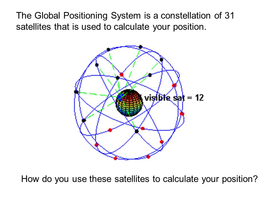 How do you use these satellites to calculate your position.