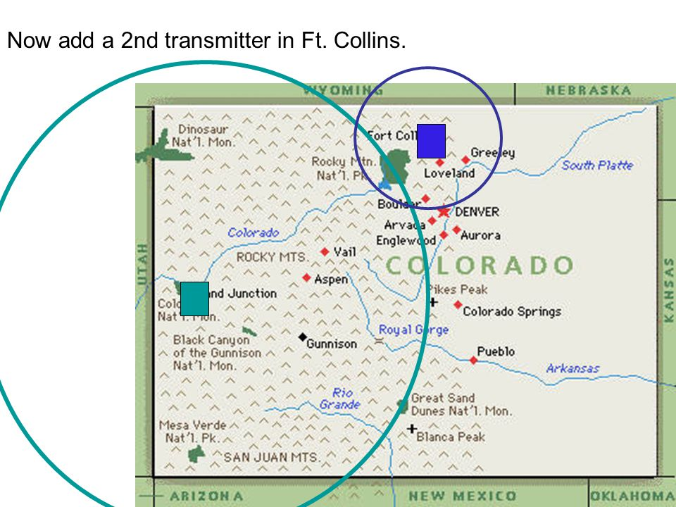 Now add a 2nd transmitter in Ft. Collins.