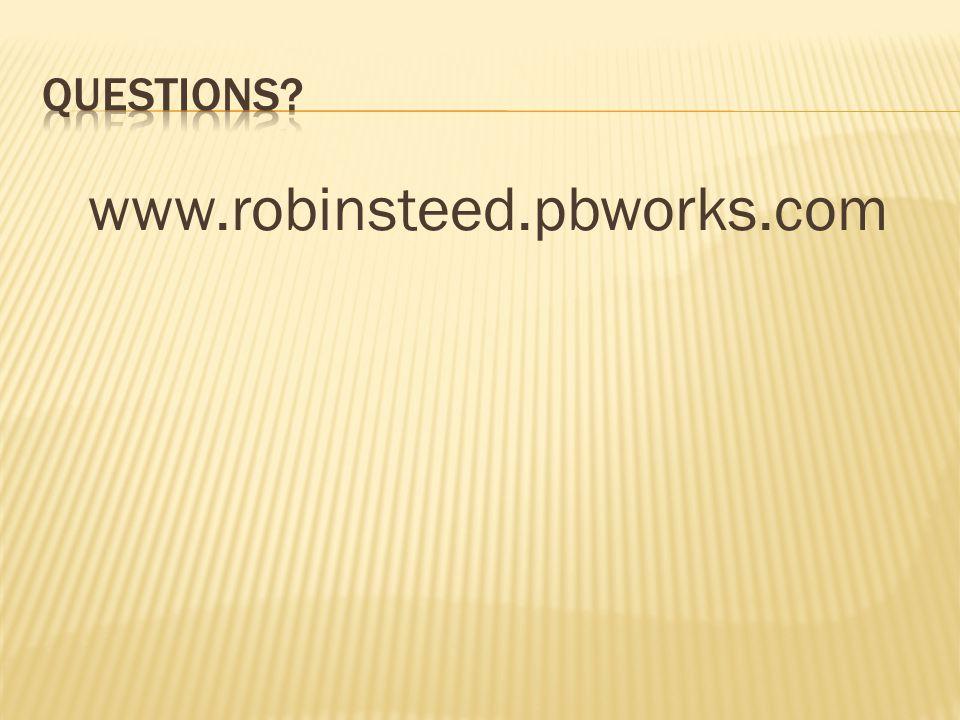 www.robinsteed.pbworks.com