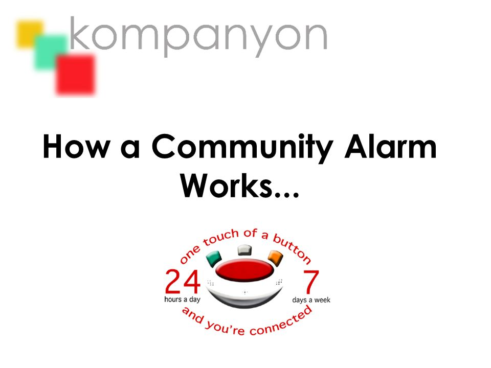 How a Community Alarm Works...