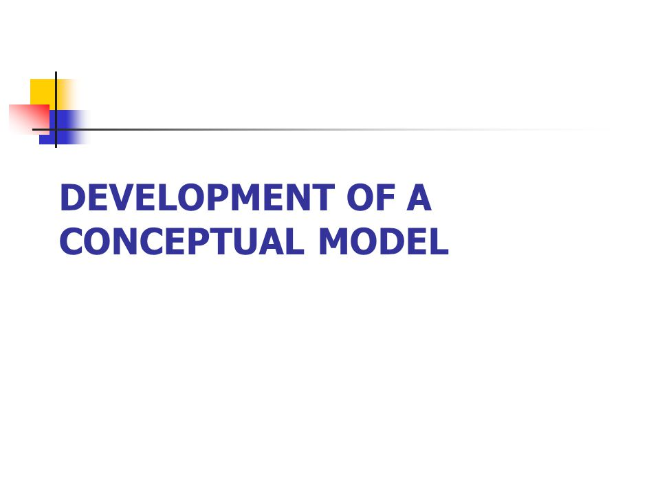 DEVELOPMENT OF A CONCEPTUAL MODEL