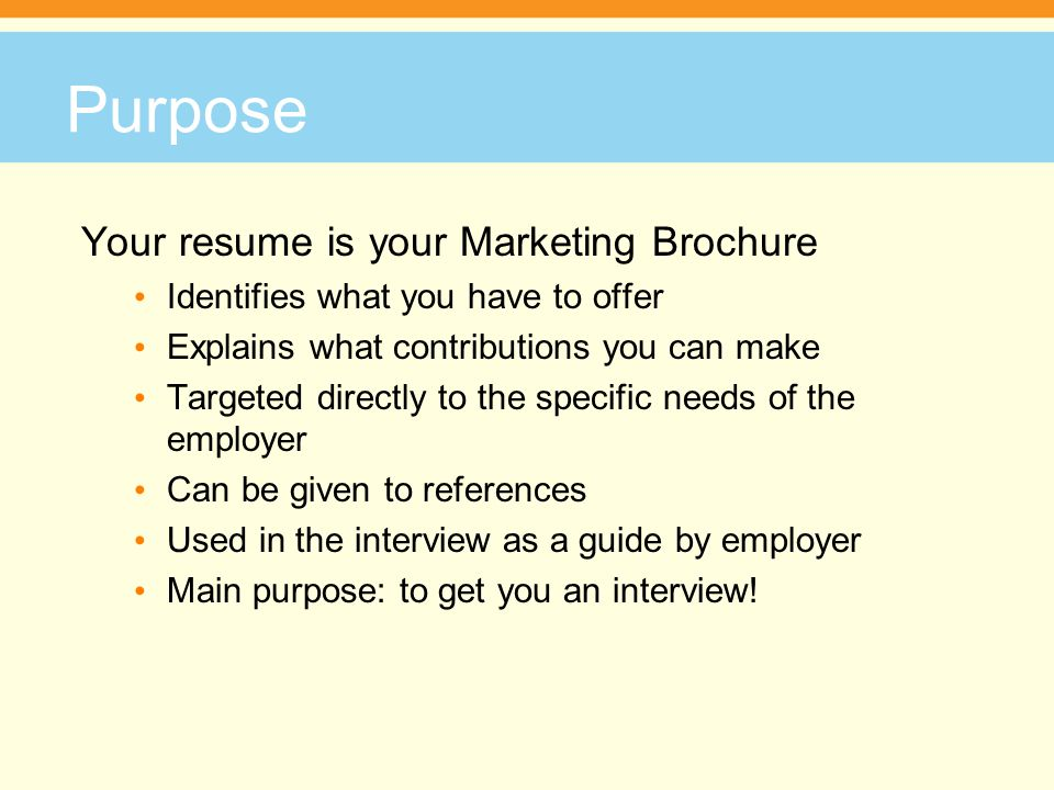 write a winning resume facilitator s name phone number address purpose your resume is your marketing