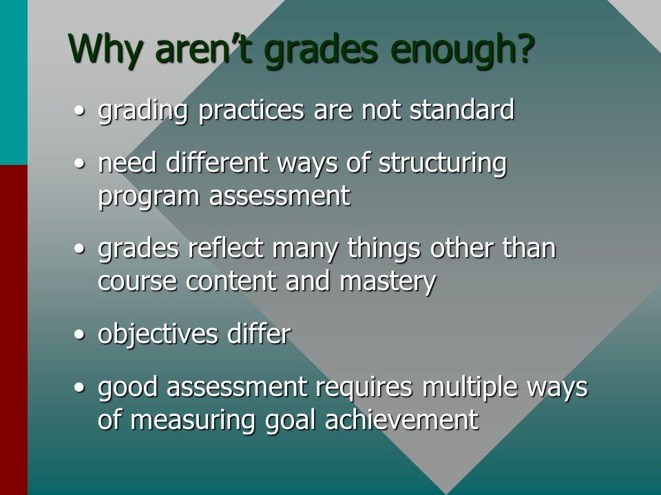 Why aren't grades enough.