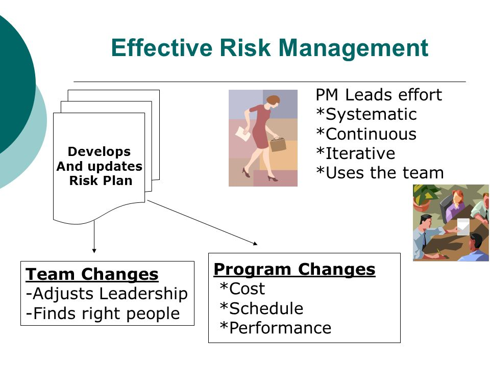 Risk Management  Definition: The act or practice of dealing with risk.