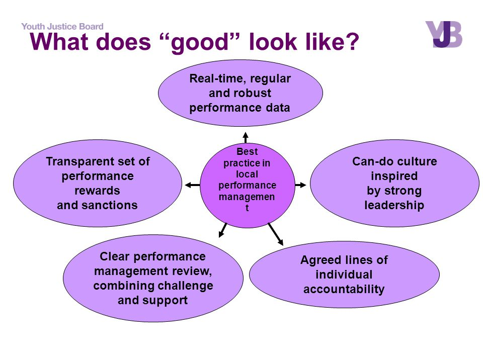 Best practice in local performance managemen t Agreed lines of individual accountability Clear performance management review, combining challenge and