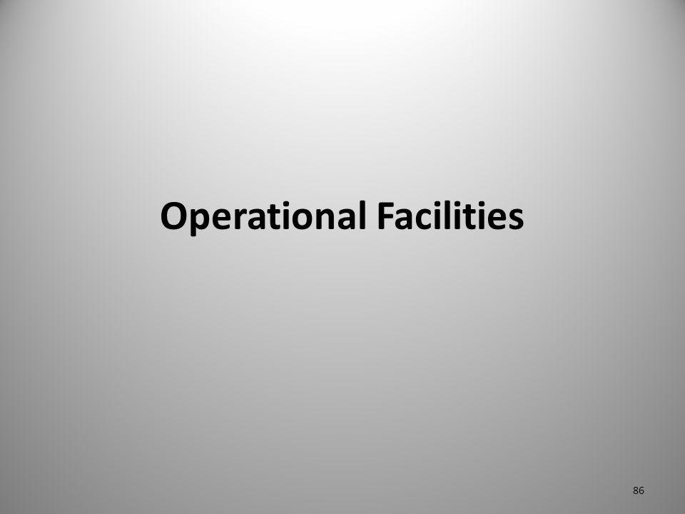 Operational Facilities 86