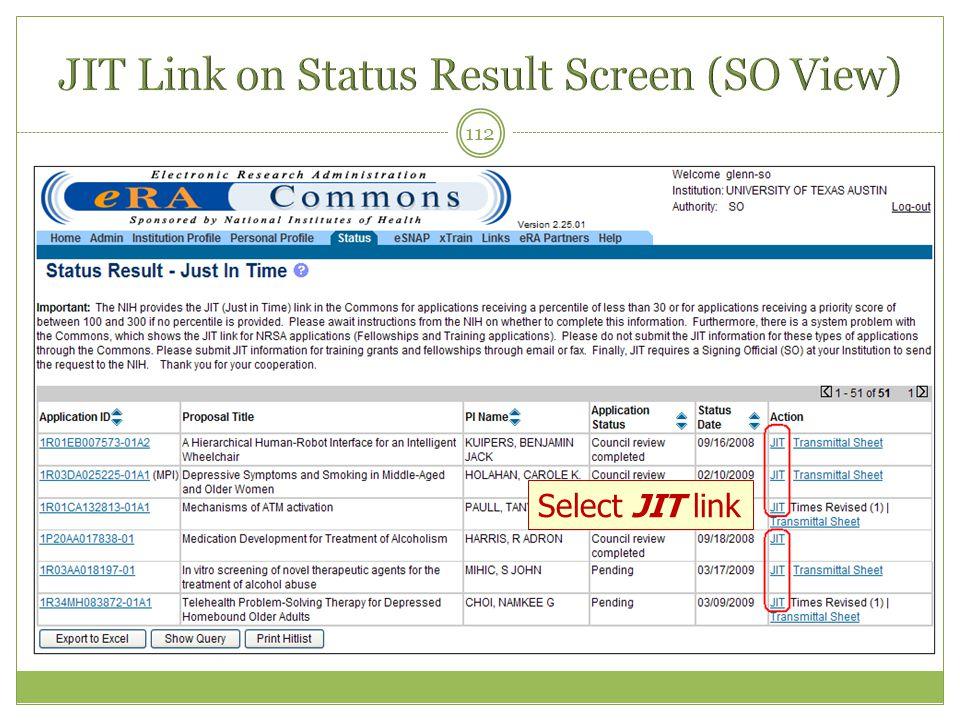 112 Select JIT link