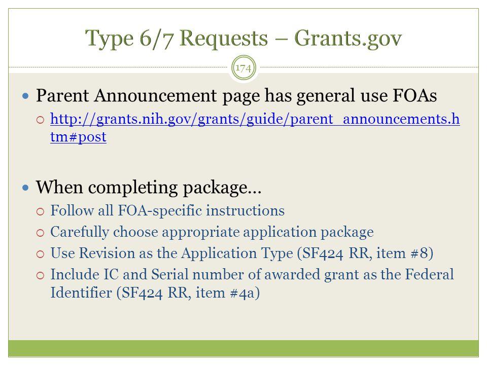 Parent Announcement page has general use FOAs  http://grants.nih.gov/grants/guide/parent_announcements.h tm#post http://grants.nih.gov/grants/guide/p