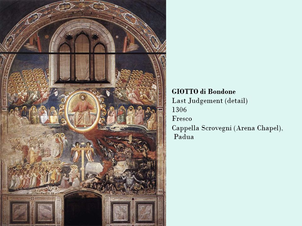 GIOTTO di Bondone Last Judgement (detail) 1306 Fresco Cappella Scrovegni (Arena Chapel), Padua