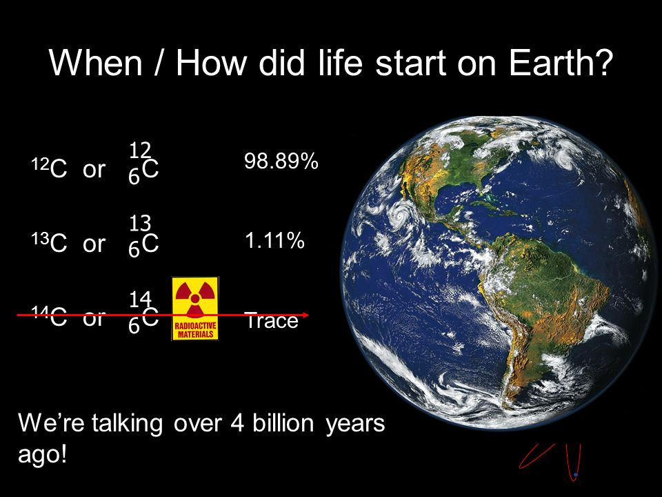 When / How did life start on Earth.